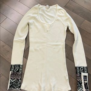 Free People Hyperactive Hippie Thermal, Ivory
